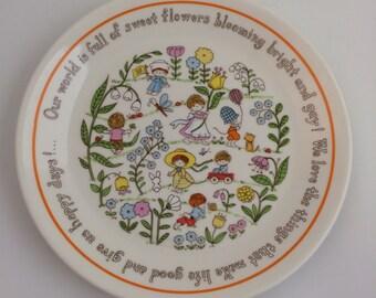 Vintage Child's Plate by Lenox - Gentle Friends Salad Plate