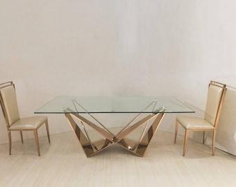 Skorpio Table Base, Glass, Marble, Metal Table Legs, Modern Style, Dining