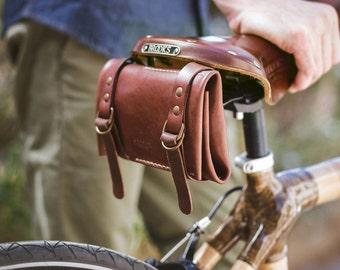 Leather Bike Tool kit Roll, Bike Tool kit Roll, Bag Bicycle, Leather