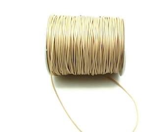 4 meters waxed cord Beige Cream - 2 mm