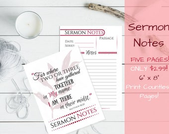 Sermon Notes PDF PRINTABLE