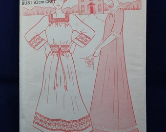 Sewing Pattern for a Boho Dress in Size 14 - Woman's Weekly B679