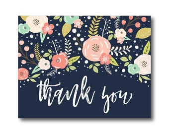 PRINTABLE Thank You Card, Printable Wedding Thank You Card, Wedding Thank You, Thank You Card, Thank You, Wedding Card, Thanks Card #CL324