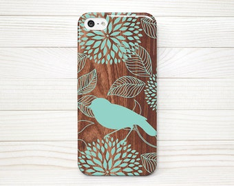 iPhone 5 Case, iPhone 5 Cases, iPhone 5 Wrap Around Case  - Bird on Wood - 171