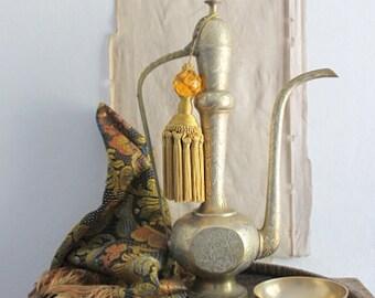 Vintage Middle Eastern Brass Coffee Pot