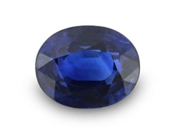 Synthetic Lab Created Blue Spinel AAA Flame Fusion Oval Loose stone (6x4mm - 18x13mm)