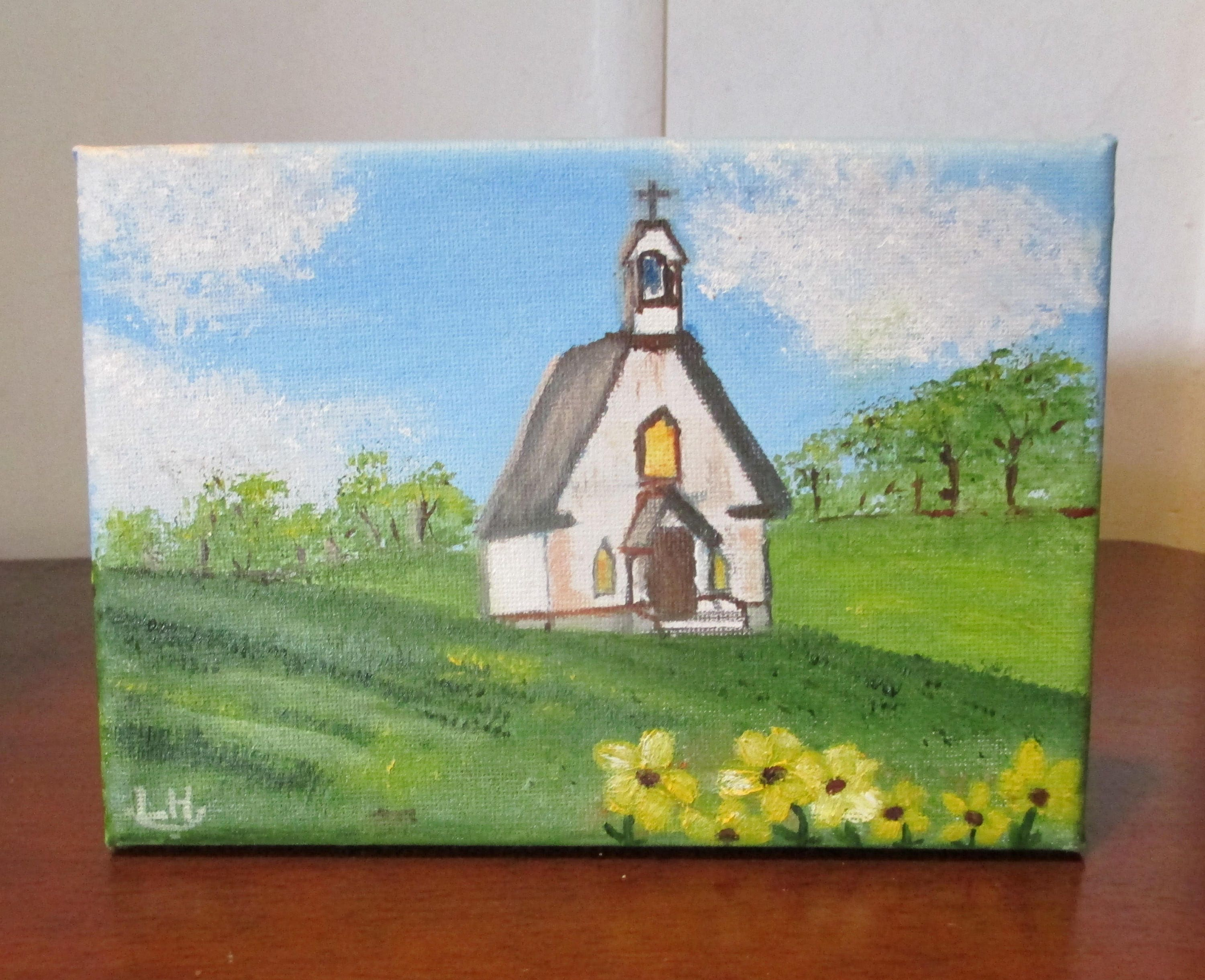 Small Oil PaintingCountry Church
