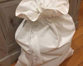 Christmas In July, Christmas Santa Sack, Off White Calico Genuine Quality, Hand Made, Large 75cm x 55cm, Fully Lined, Can Personalise