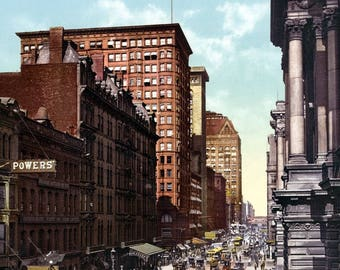 "1900 Randolph Street, Chicago, Illinois Vintage Photograph 8.5"" x 11"" Reprint"