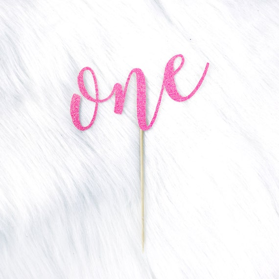 One Cake Topper - Glitter - READY TO SHIP!