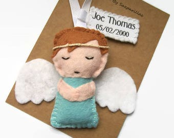 Personalised Remembrance Angel, Memorial Gift, Baby Loss Ornament, Memory Angel, Miscarriage Keepsake, In Memory of Baby, Boy or Girl
