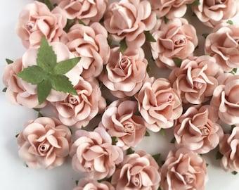 Paper flowers etsy blush pink paper flowers wedding paper flower backdrop wall diy wedding favors wedding junglespirit Choice Image