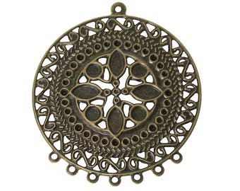 8pc antique bronze finish filigree chandelier components-BB31
