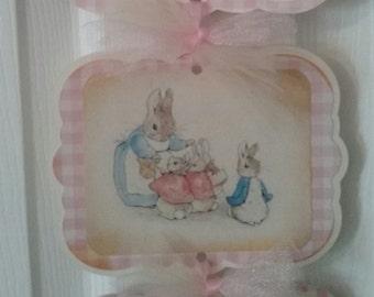 Peter Rabbit Baby Girl - Baby Girl Peter Rabbit Hosp. Sign - Peter Rabbit Baby Shower