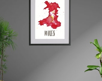Customised Country/City Colour Ink Print/Frame