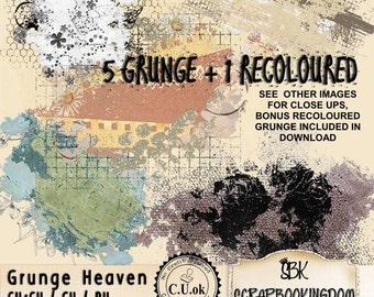Digital Scrapbooking Kit - Designers Pack, Commercial Use OK, Grunge Heaven tweak, re-color or fill with texture CU ok