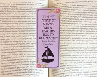 Little Women Louisa May Alcott Quote Bookmark