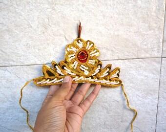 Krishna kids crown, Radha kids mukut, Kanha baby party fancy dress, Indian party prop headdress for kids,  Indian toddler hat, wedding mukut
