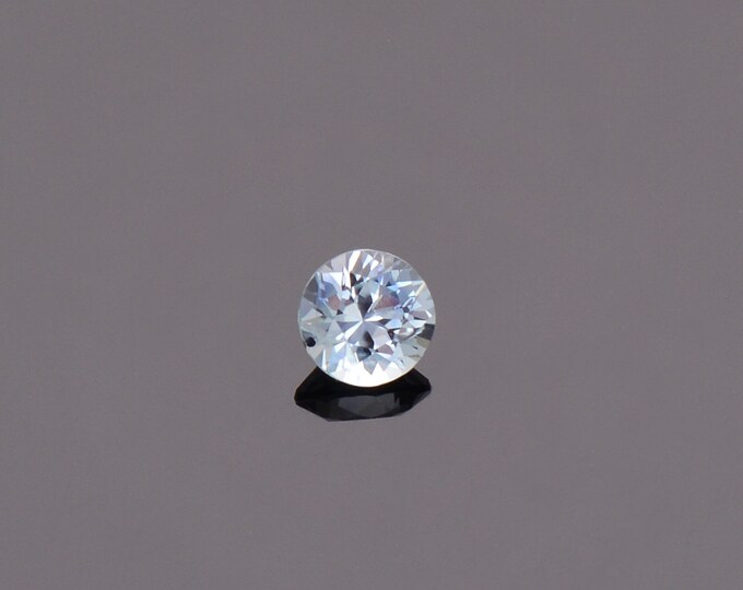 Ice Blue Sapphire Gemstone from Montana, Round, 0.47 cts., 4.4 mm.
