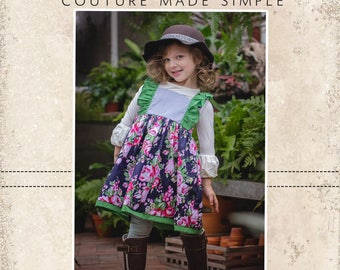 Rosemary's Flutter Bodice Dress and Tunic PDF Pattern sizes 2T to 14 girls
