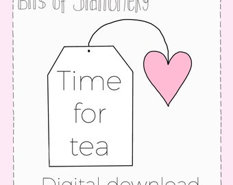 Digital Download - Time for Tea diecut