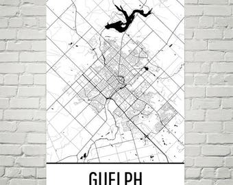 Guelph map Etsy