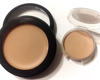BUFFED BEIGE Perfecting Cream Foundation - Creamy Foundation Concealer Mineral Makeup - Vegan Gluten Free