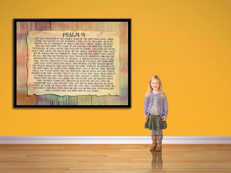 Psalm 91 Print Large Psalm 91 wall Art. Large Bible postet.