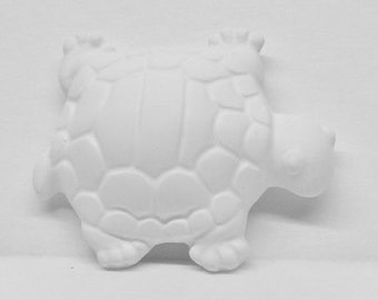 Ready To Paint/DIY/Plaster/ChalkWare/PlasterCraft/Flat Back Magnet Turtle #195B