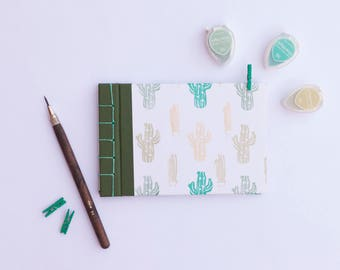 Photo Album or book with thematic cactus. Japanese binding