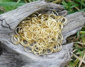 300 gold 10 mm open jump rings