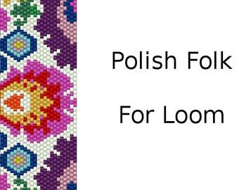 Loom Patternfor bracelet: Polish Folk- INSTANT DOWNLOAD pdf