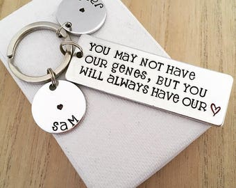 Gifts for Stepdad, Stepdad Gift, Gifts for Step Dads, Hand Stamped Keyring, Step Dad Wedding Gift, Keychain, Step Dad Gift, Personalised
