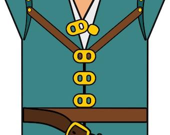Flynn Rider Shirt - svg, pdf, png file