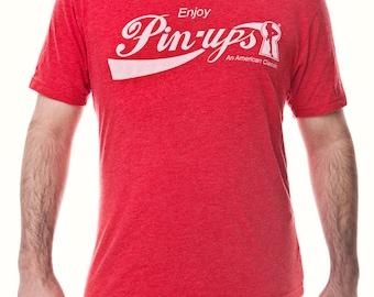 "Vintage Style ""Enjoy Pin-ups"" Unisex/Men's Graphic Tee"