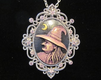 Creepy Witch Cameo Enchantment Necklace