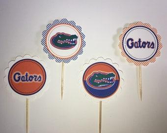 University of Florida / Florida Gators - 12 cupcake toppers