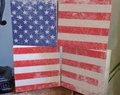 AMERICAN flag distressed ...
