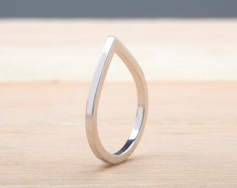 Drop Ring, Silver Drop, Geometric Ring, Sterling Silver, Point Ring