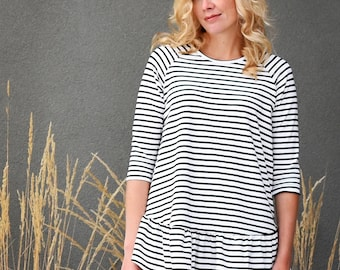 Waterfall Raglan pdf sewing pattern
