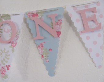 High Chair Banner, I Am One banner, Birthday decorations, small banner