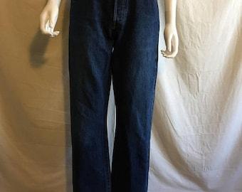 Schließen Shop Verkauf Levis Jeans 501 W 30 Taille Dark Indigo Denim