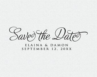 Save The Date Stamp, Save the Date Self Ink, Wood Stamp with handle, Simple, Rubber Save The Date Stamp, Custom  (T260)