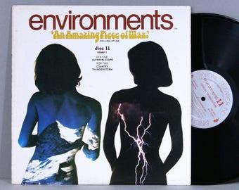 Environments Disc 11 - Alpine Blizzard / Country Thunderstorm - Vintage Vinyl Record Album 1979 Nature Sounds