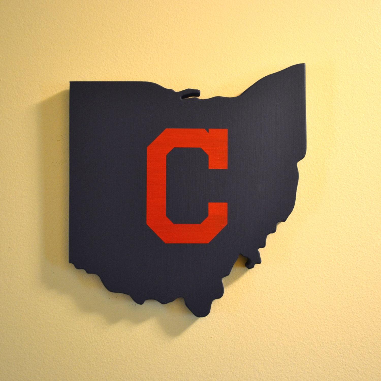 Cleveland Indians Wall Art Handmade Wooden Indians Sign