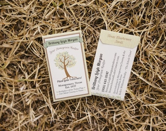 Business card seed packet etsy business cards custom designed corporate favor seed packets colourmoves