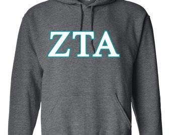 Zeta Tau Alpha, Zeta Tau Alpha shirt, ZTA hoodie, Zeta Tau Alpha letter shirt, ZTA Letter, ZTA Gift, Zeta Tau Alpha Apparel, greek letters