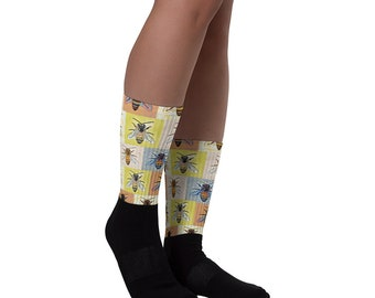 Bee Keepers Socks Honeybees Sock Slippers Colorful Allover Print G'Raffe's Special