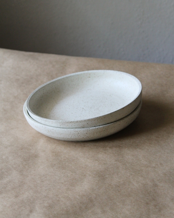 Rustic Plate, White Plate, Ceramic Plate, Small Plate, Salad Plate, Desert Plate, Handmade Plate, Handthrown Plate, Speckled White Plate