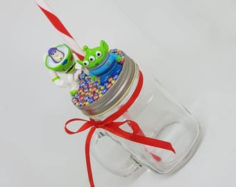 Personalised Buzz Lightyear from Toy Story Mason Jar
